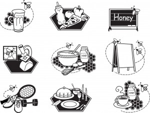 honey-coloring-page